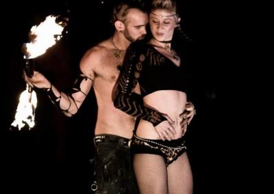Fire Performer Duet