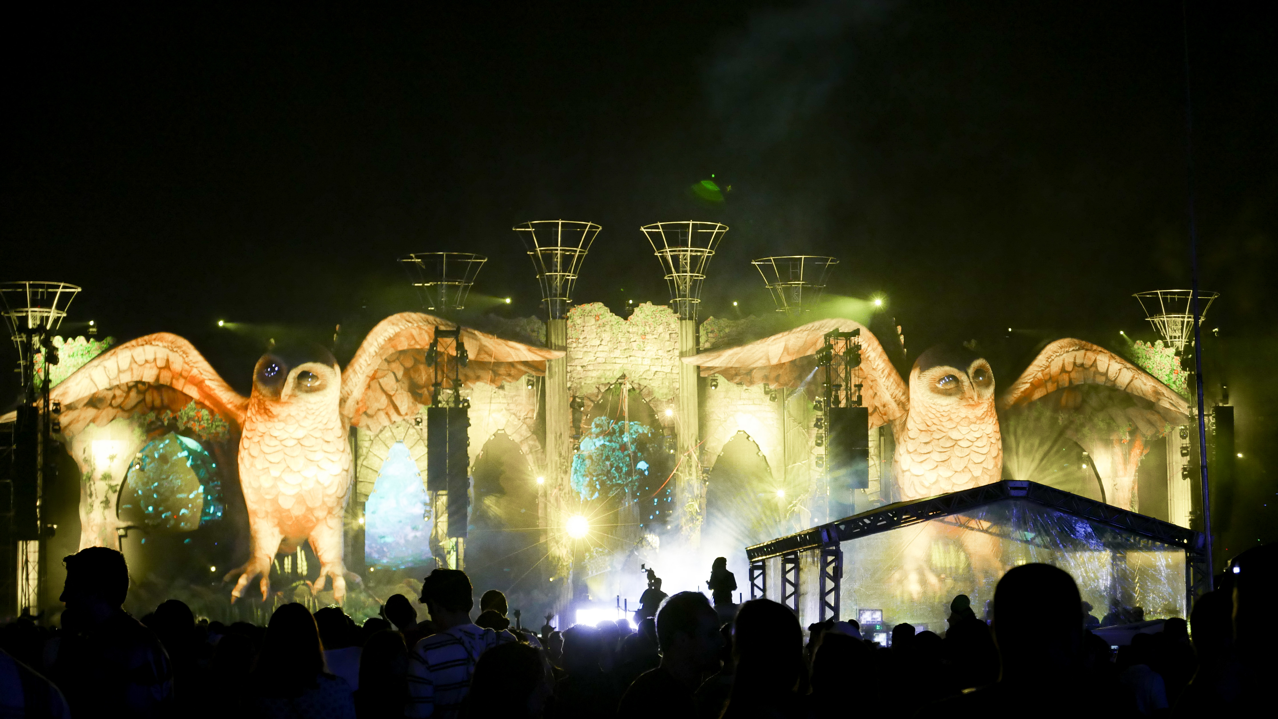A shot from Skyfire's stage at EDC in Sao Paulo where Love in the Fire was blessed to perform on