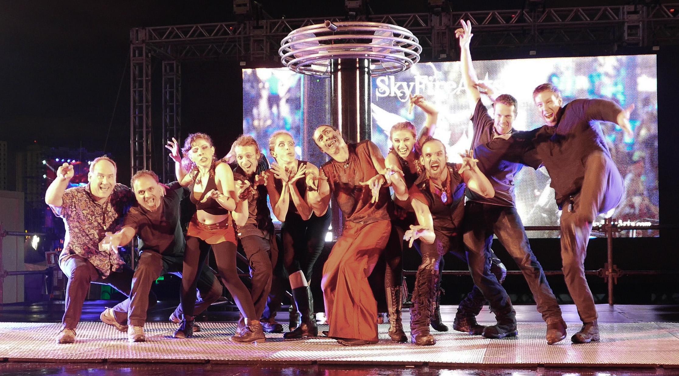 Team Skyfire - EDC Brasil (Marc Rosenthal, Sandy Bagri, Adrianna Widmann, Dustin Egelskind, Michelle LaVon, Michael Ravenwood, Samantha Taylor, Lester Mooney, Justin Hays, and Thomas Beaty)