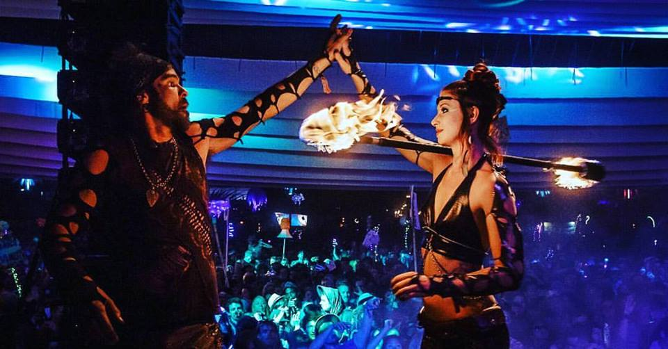 Lightning in a Bottle LIB Los Angeles Fire Dancer and Performers Circus Arts Poi staff fans pyrotechnics