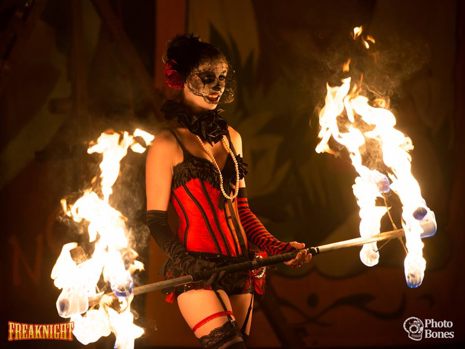 seattle washington fire dancers and performers for freaknight