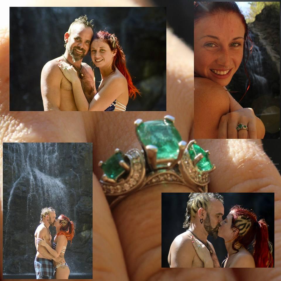 fire dance duet wedding engagement Costa rica fire dance retreat
