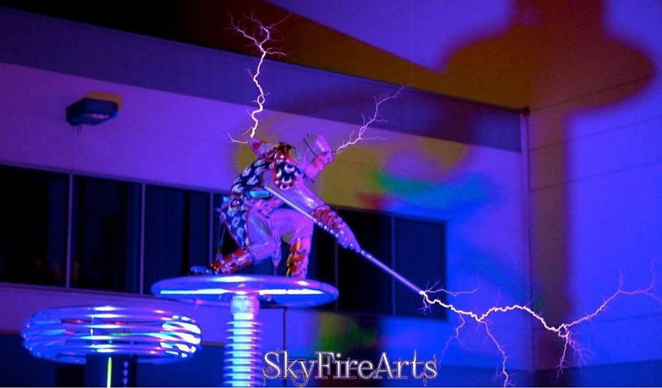 Lightning performance and fire dancers for hire skyfire arts