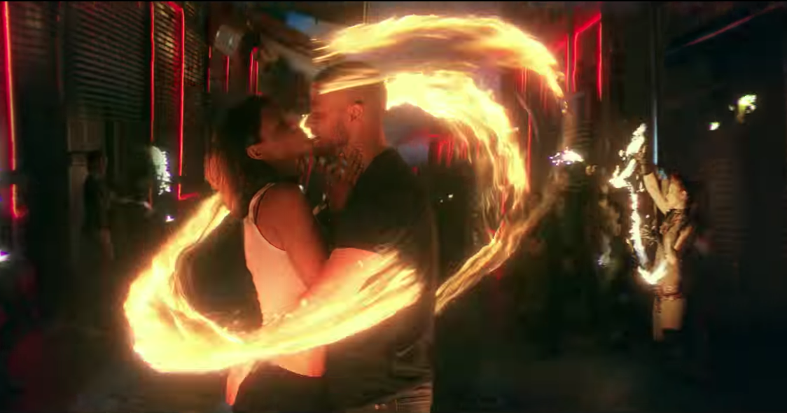 Justin Timberlake Fire Dancers in the Music Video Supplies. Los Angeles Fire Dancing Performance