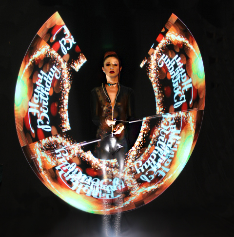 LED Pixel Poi performance Glow dancing fire dancing los angeles New York Miami