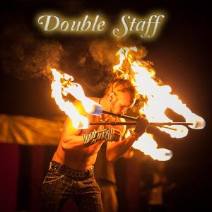 Double Staff fire dancer spinner for hire