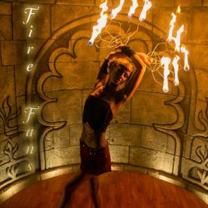Fire Fan Dancer Spinner for hire