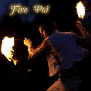 Fire Poi Dancer Spinner for hire