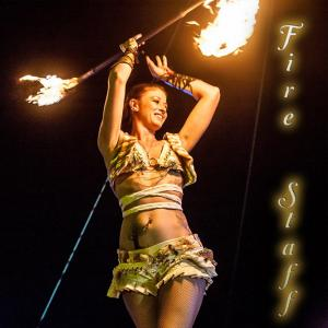 Fire Staff Dancer Spinner for hire